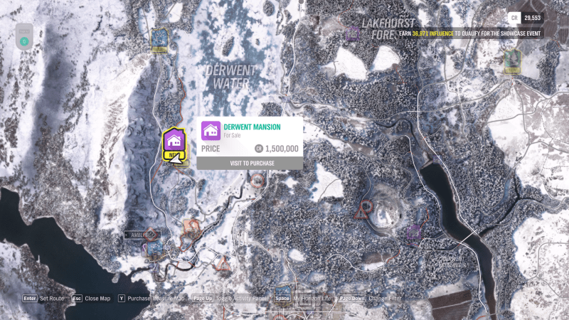 location of all properties in forza horizon 4