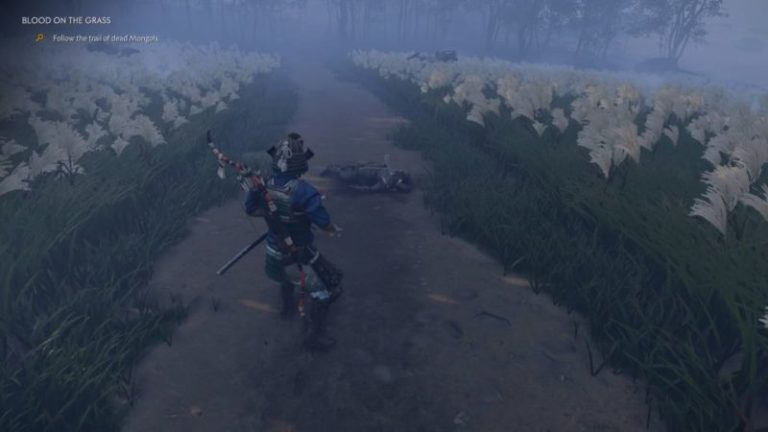 ghost-of-tsushima-blood-on-the-grass