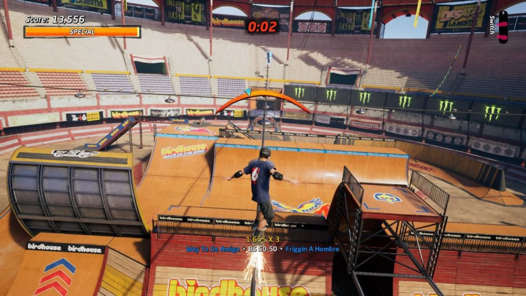 thps 1 + 2 - the bullring location of stat points