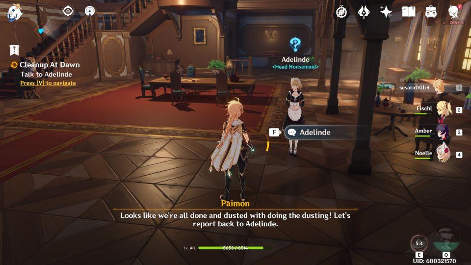 Genshin Impact Cleanup At Dawn Quest Walkthrough