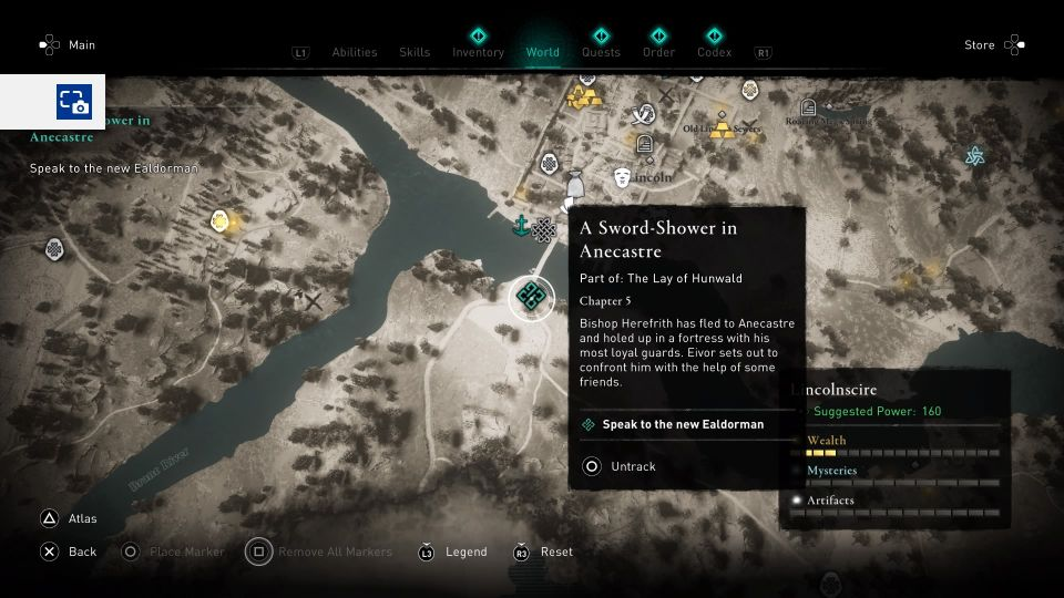 ac valhalla - a sword-shower in anecastre guide