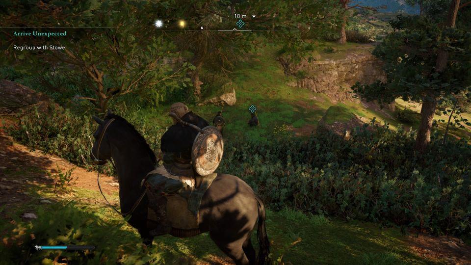 ac valhalla - arrive unexpected quest