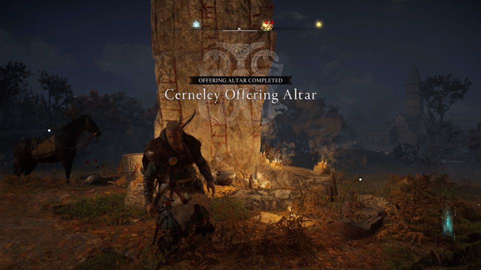 ac valhalla - cerneley offering altar how to find hare's foot