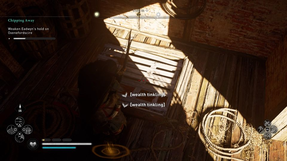 ac valhalla - chipping away no quest marker