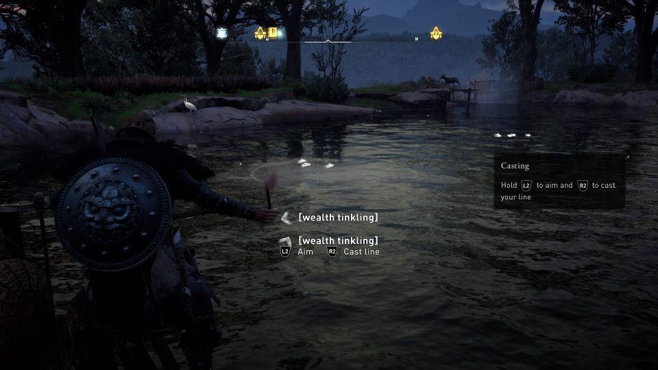 ac valhalla - fishing lesson walkthrough