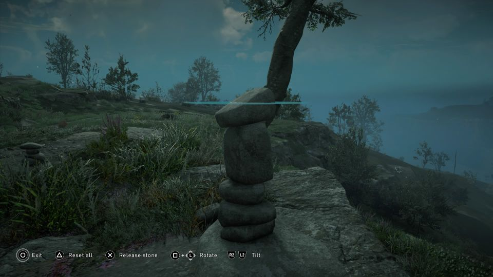 ac valhalla - high rocks cairn how to stack