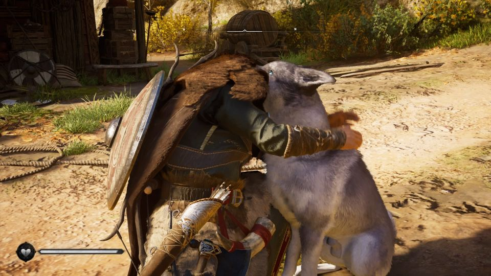 ac valhalla how to pet the dog