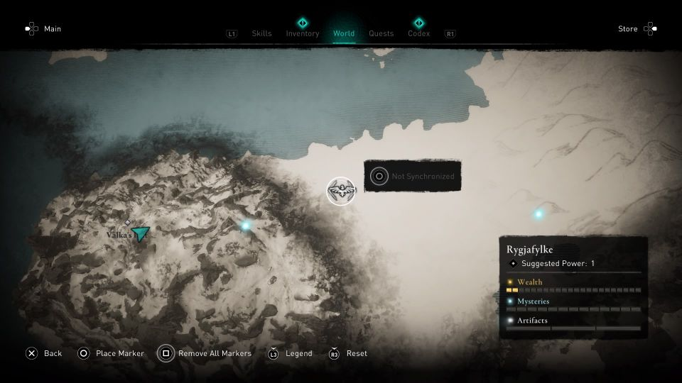 ac valhalla how to synchronize location