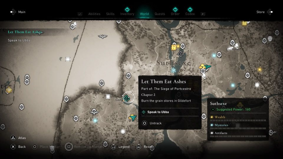 ac valhalla - let them eat ashes guide