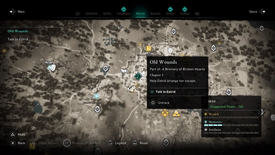 ac valhalla - old wounds guide