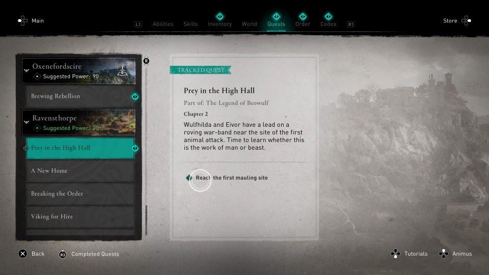 ac valhalla - prey in the high hall