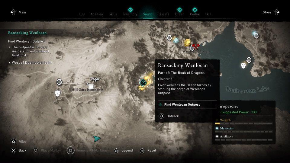 ac valhalla - ransacking wenlocan guide