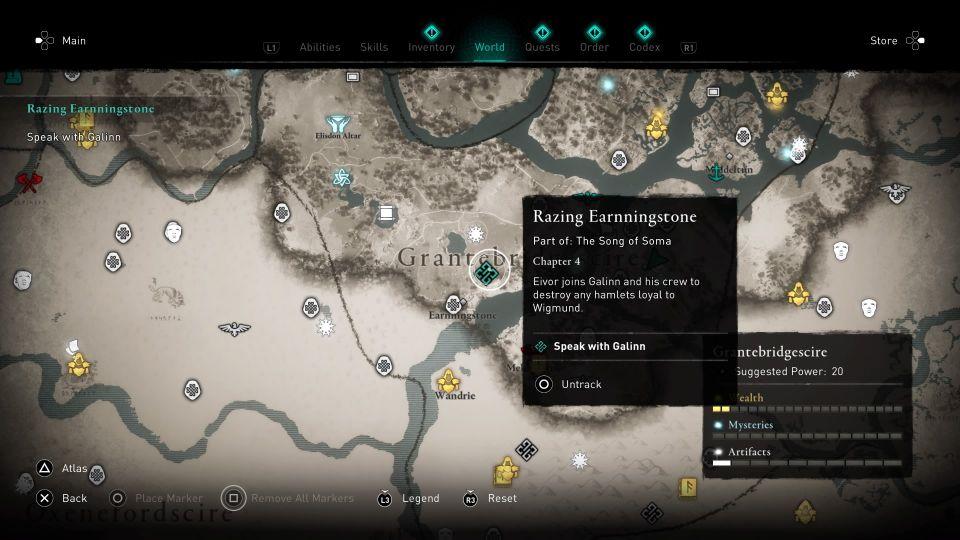 ac valhalla -razing earnningstone guide