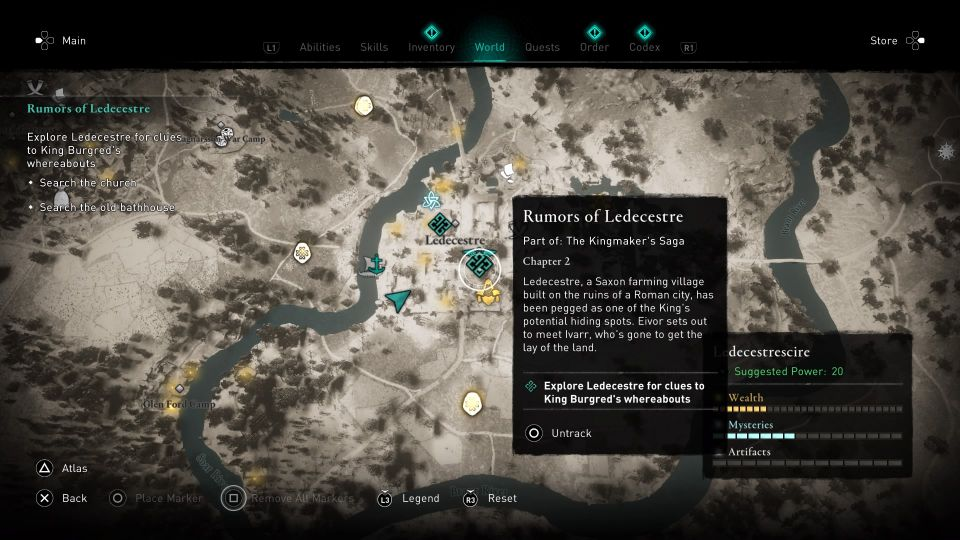 ac valhalla - rumors of ledecestre quest guide