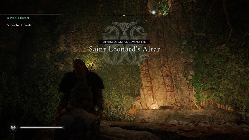 ac valhalla saint leonard's altar walkthrough