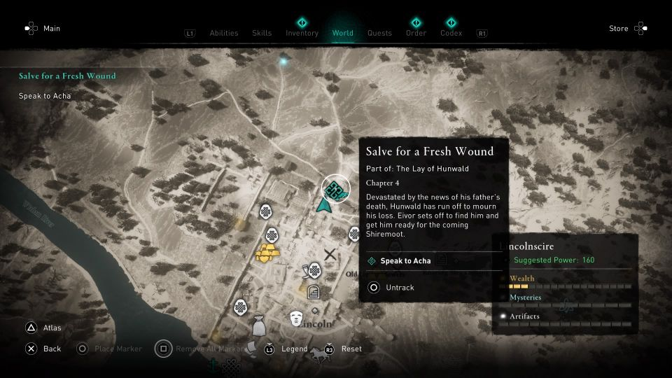ac valhalla - salve for a fresh wound guide