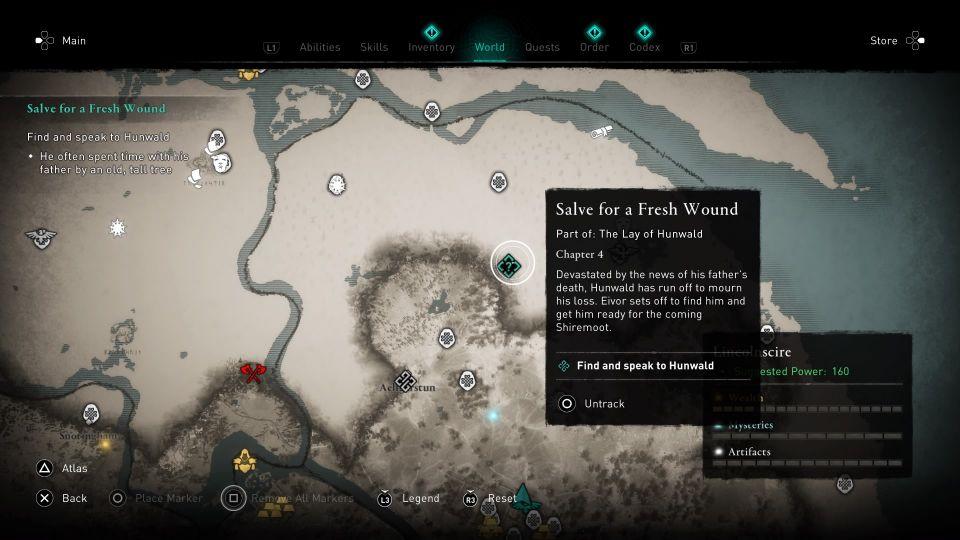 ac valhalla - salve for a fresh wound walkthrough