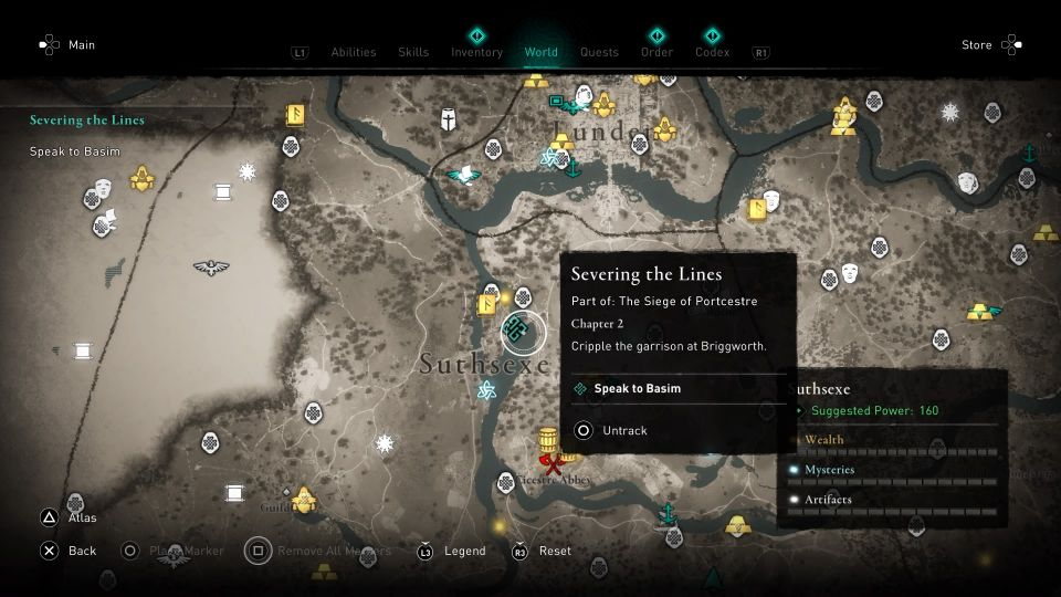 ac valhalla - severing the lines guide