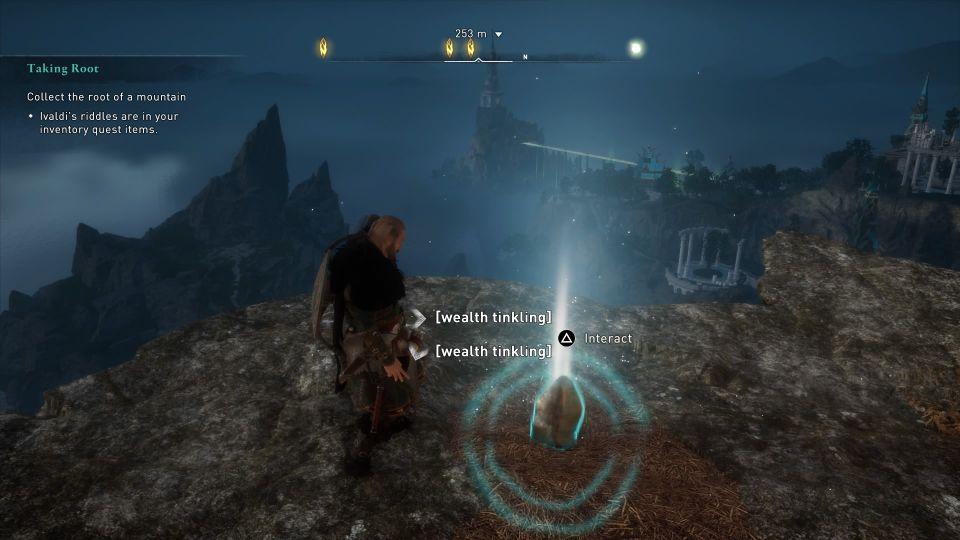 ac valhalla - taking root quest