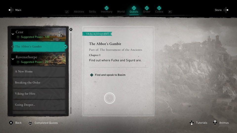 ac valhalla - the abbot's gambit