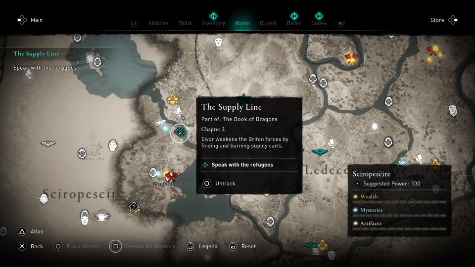 ac valhalla - the supply line guide