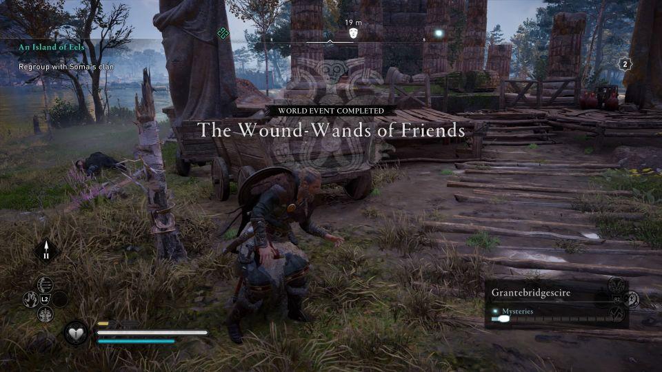 ac valhalla - the wound-wands of friends walkthrough