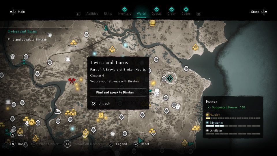 ac valhalla - twists and turns guide