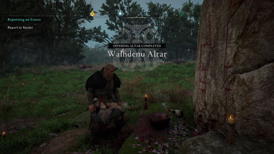 ac valhalla - walhdenu altar walkthrough