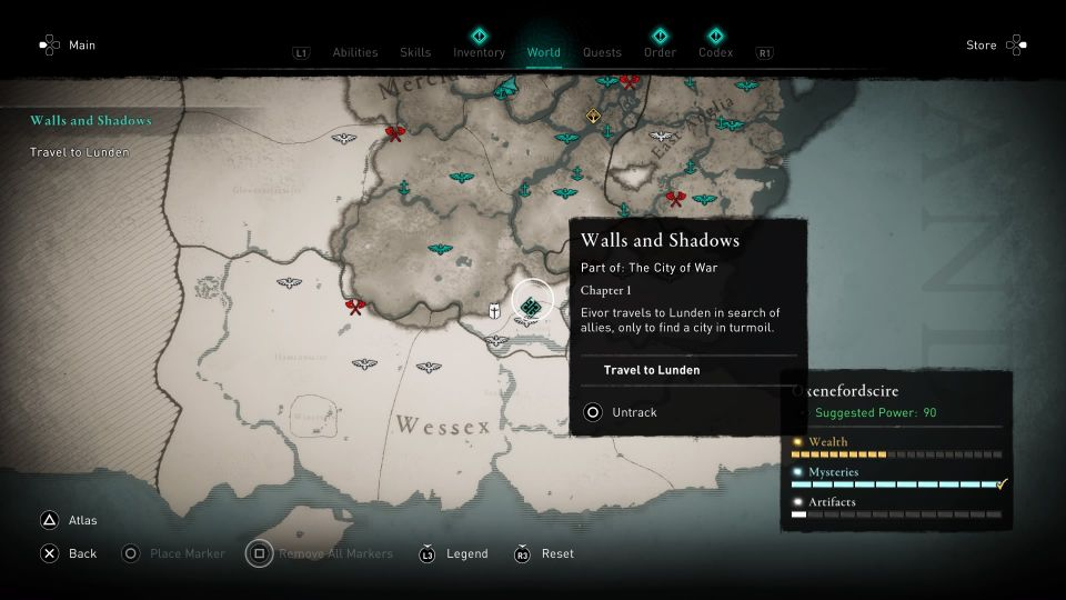 ac valhalla - walls and shadows guide