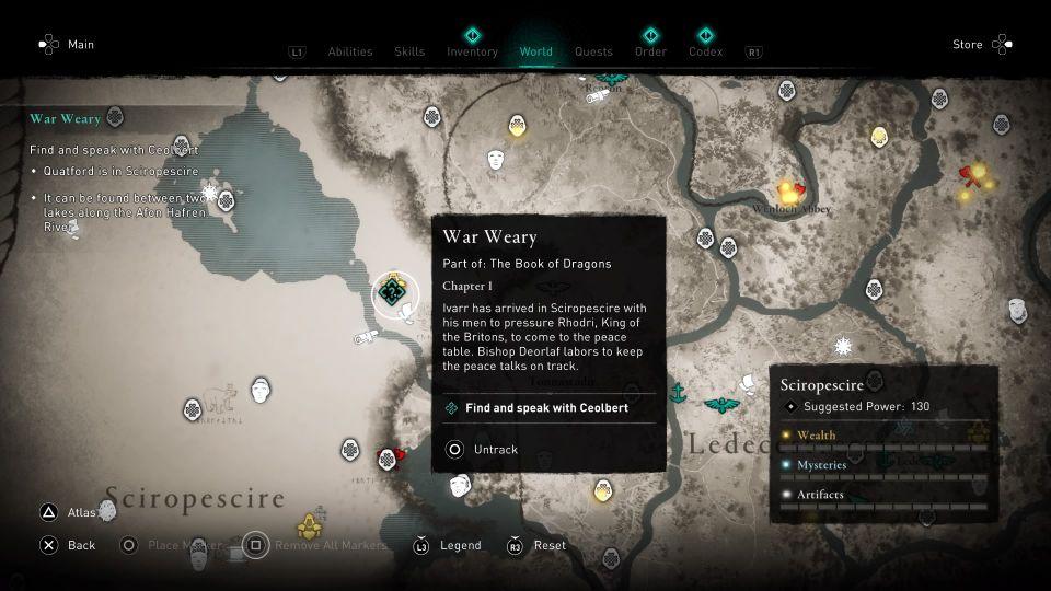 ac valhalla - war weary guide