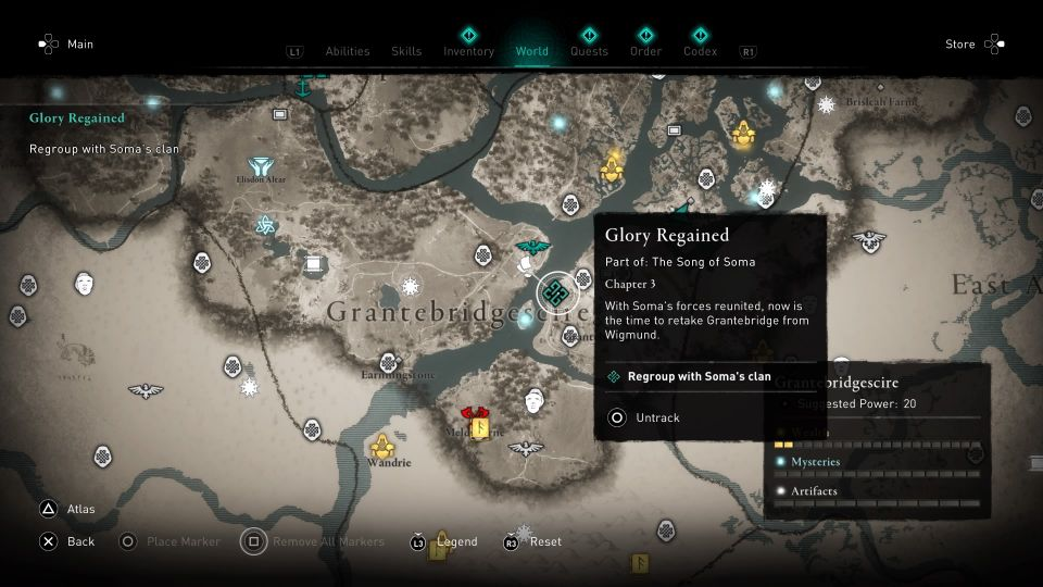 assassins creed valhalla - glory regained quest