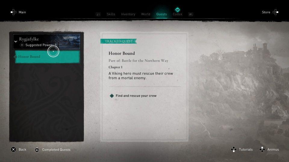 assassins creed valhalla - honor bound