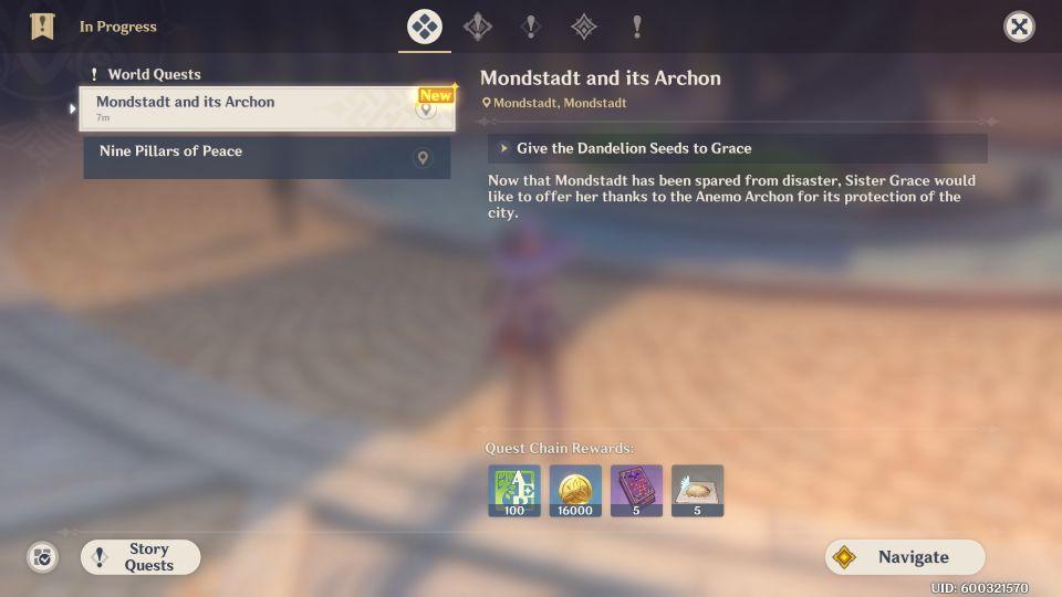 genshin impact - mondstadt and its archon quest