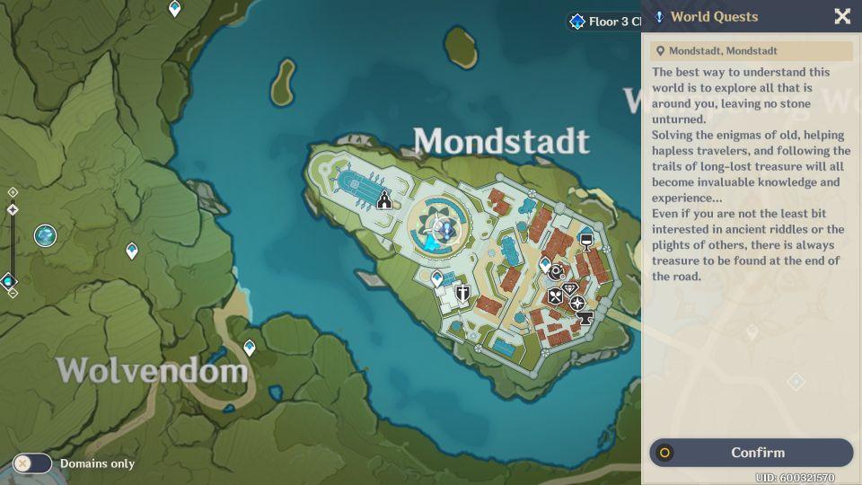 genshin impact - mondstadt and its archon