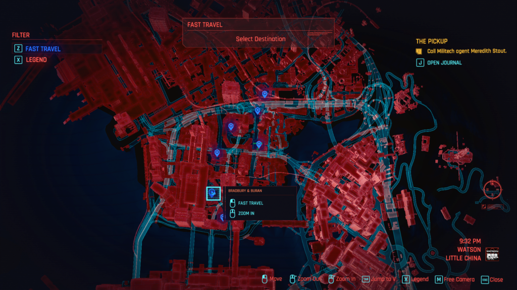 how to fast travel cyberpunk 2077