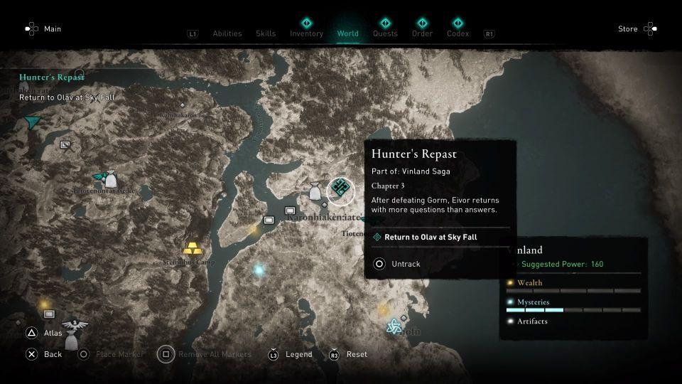 ac valhalla - hunter's repast guide