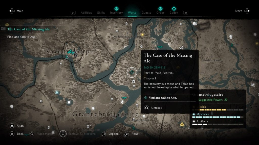 ac valhalla - the case of the missing ale walkthrough