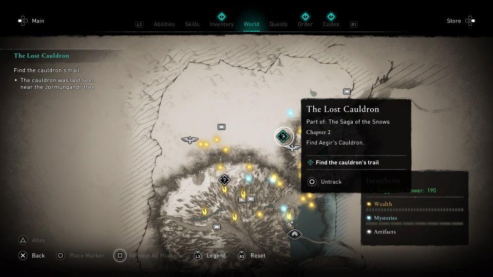 ac valhalla the lost cauldron guide