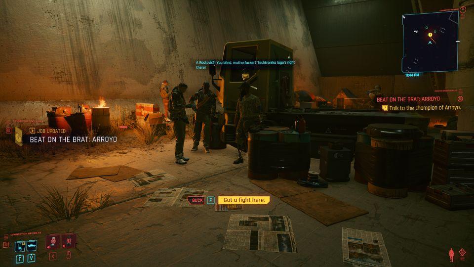 cyberpunk 2077 - beat on the brat arroyo mission