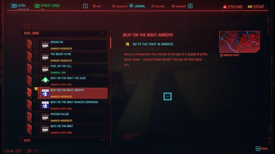 cyberpunk 2077 - beat on the brat arroyo