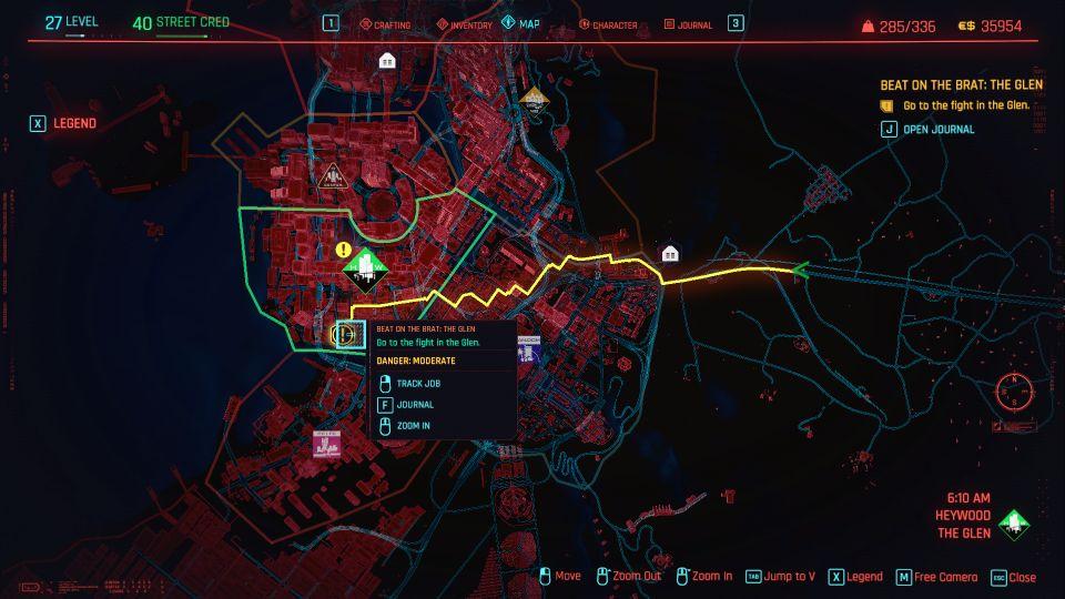 cyberpunk 2077 - beat on the brat the glen guide