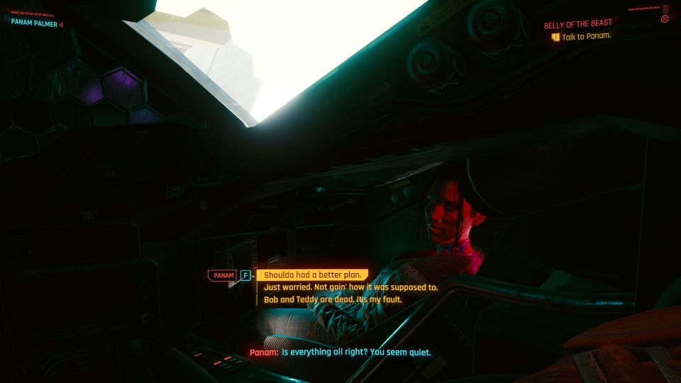 cyberpunk 2077 - belly of the beast mission