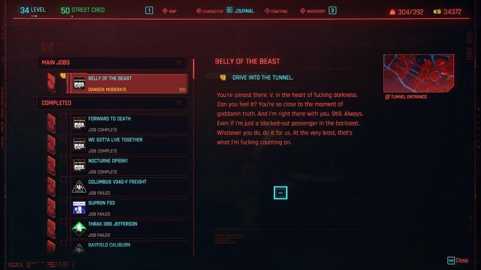 cyberpunk 2077 - belly of the beast