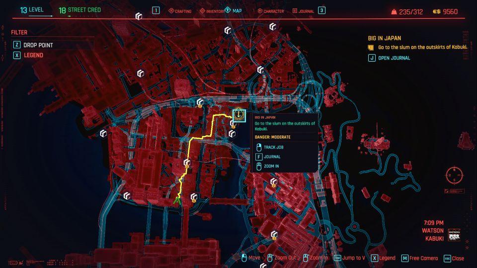 cyberpunk 2077 - big in japan mission