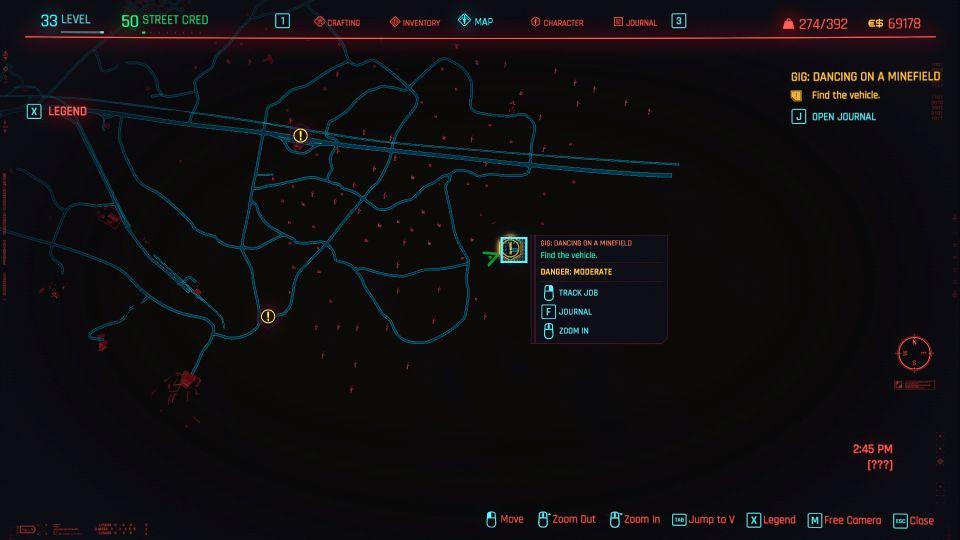 cyberpunk 2077 - dancing on a minefield guide