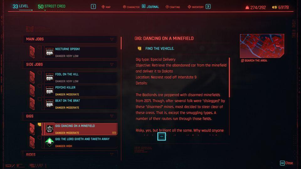 cyberpunk 2077 - dancing on a minefield