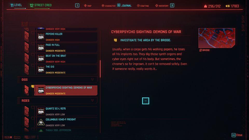 cyberpunk 2077 - demons of war