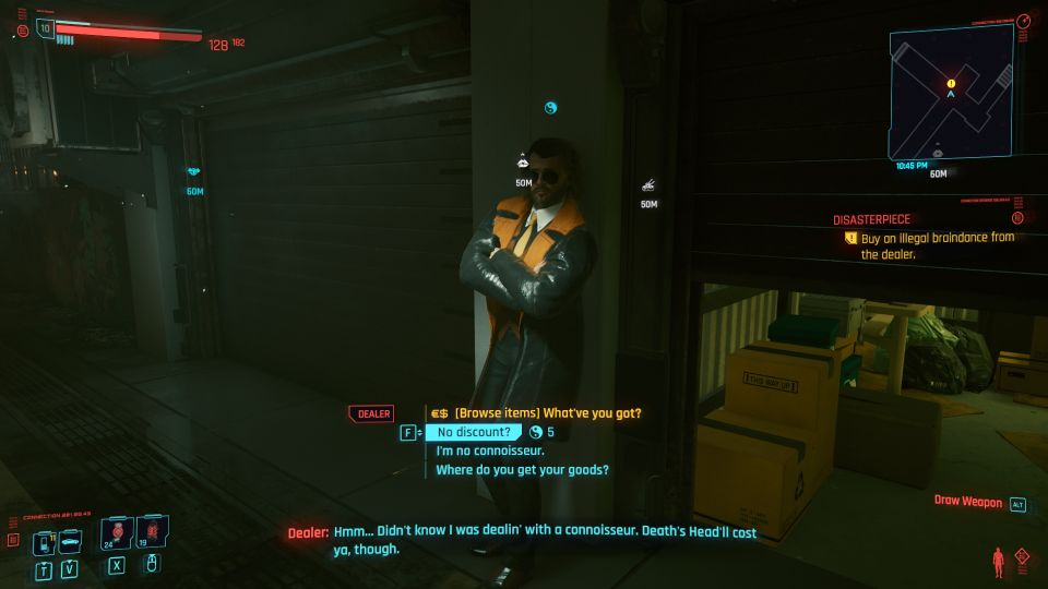 cyberpunk 2077 - disasterpiece tips