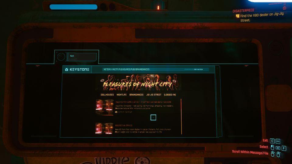 cyberpunk 2077 - disasterpiece walkthrough