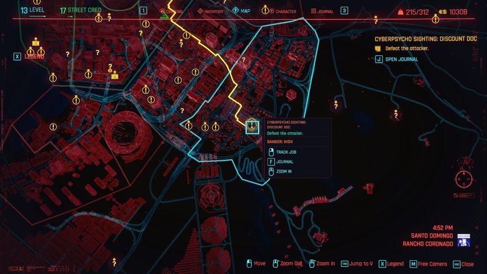 cyberpunk 2077 - discount doc (cyberpsycho sighting) location